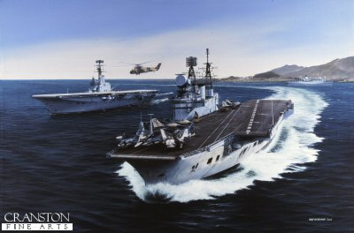 HMS Eagle and HMS Albion by Ivan Berryman (GL)