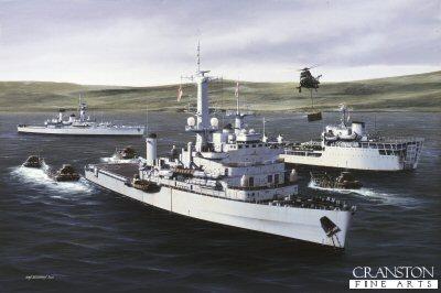 HMS Fearless by Ivan Berryman