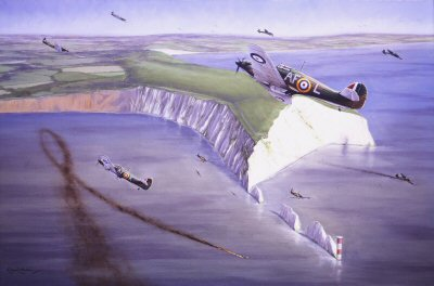 Hurricanes Over the Needles by Graeme Lothian.