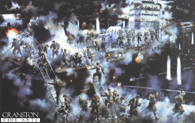 The Raid on St Nazaire 28th March 1942 by David Rowlands.