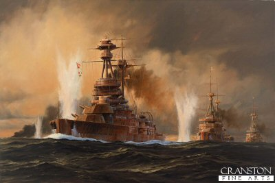 The Battle of Jutland, HMS Royal Oak by Anthony Saunders (GS)