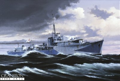 HMS Onslaught by Ivan Berryman (P)