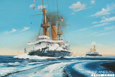 HMS Hood at Malta 1896 By Randall Wilson.