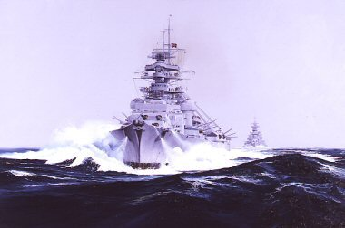 Big brother little sister (Bismarck and Prinz Eugen ) By Randall Wilson. (GL)