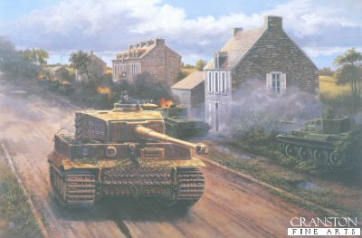 Wittmann at Villers Bocage, Normandy, 0900 hrs, June 13th 1944 by David Pentland. (C)