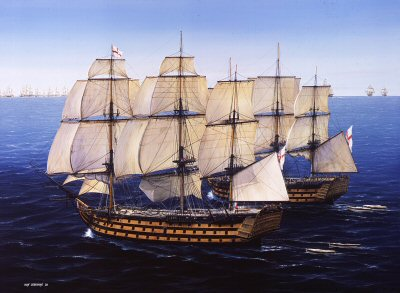 Prelude to Trafalgar by Ivan Berryman.