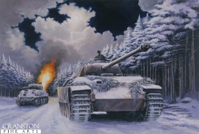 Night Drive to Manhay, Barkmann in the Ardennes, 24th December 1944 by David Pentland.