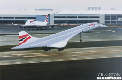 Concorde - The Final Touchdown by Ivan Berryman. (P)
