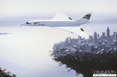 Concorde over New York (Concorde Farewell) by Ivan Berryman. (P)