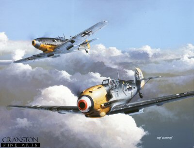Adolf Galland / Messerschmitt Bf109 E-4 by Ivan Berryman. (APB)