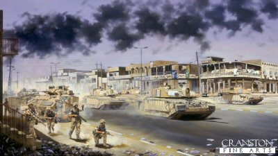 The Liberation of Basra by the 7th Armoured Brigade, 6th April 2003 by David Rowlands.