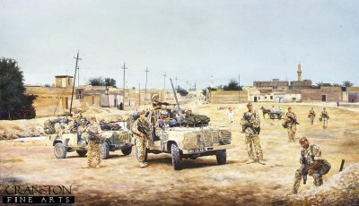 Patrol in Az Zubayr, Iraq by David Rowlands.