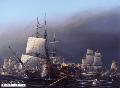 The Battle of Trafalgar, 2.30pm.  The Taking of the Santisima Trinidad by Ivan Berryman.