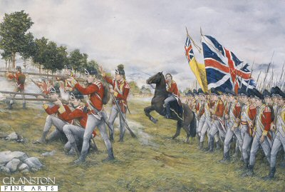 The 9th Regiment, at the Battle of Freemans Farm, September 19th 1777 by Brian Palmer