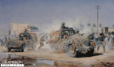B Squadron, 1st The Queens Dragoon Guards, Safwan, Iraq, 2003 by David Rowlands.