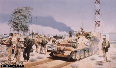 Headquarters Squadron, 1st The Queens Dragoon Guards, Umm Qasr, Iraq, 2003 by David Rowlands.
