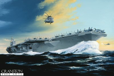 USS Ronald Reagan by Randall Wilson.