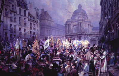 Remise Au Senat Des Trophees by Edouard Detaille.