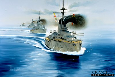 2nd Battle Squadron at the Battle of Jutland by Randall Wilson.