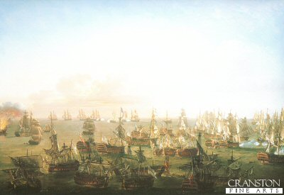 Battle of Trafalgar, 21st October 1805 - The Close of Action by Nicholas Pocock (B)