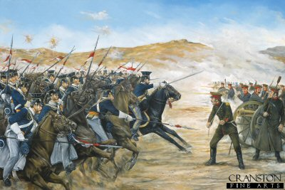 Charge of the 17th Lancers at the Battle of the Balaclava by Brian Palmer. (GS)