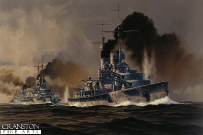 SMS Lutzow at the Opening of the Battle of Jutland  by Anthony Saunders