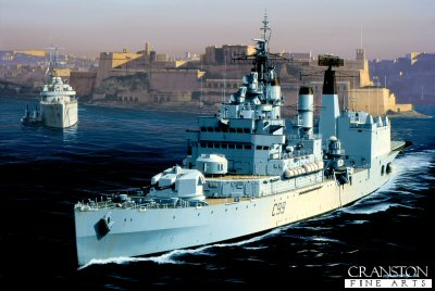 HMS Blake  by Ivan Berryman.