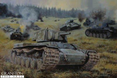 Red Steel at Kamenewo, Mtsensk, Central Front, Russia, 6th October 1941 by David Pentland.