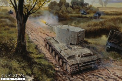 The Roadblock, Dubyana River, Lithuania 23rd - 24th June 1941 by David Pentland. (B)