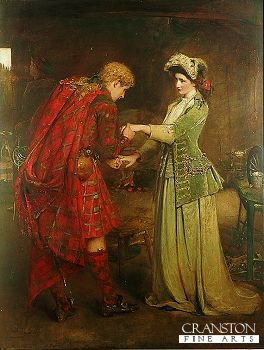 DHM1432.  Flora MacDonalds Farewell to Bonnie Prince Charlie by George William Joy. <b><p>Open edition print. <p> Image size 16 inches x 25 inches (41cm x 64cm)