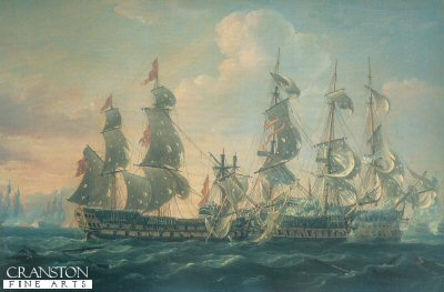 HMS Captain Capturing the San Nicholas by Nicholas Pocock (B)