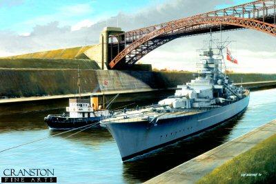 Tirpitz Passing Through Kiel Canal by Ivan Berryman