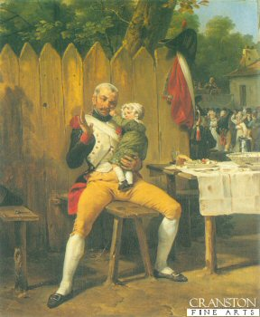 The Veteran at Home by Horace Vernet. (Y)