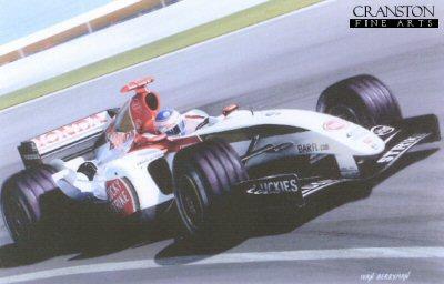 Jenson Button 2004 BAR 006 by Ivan Berryman. (P)