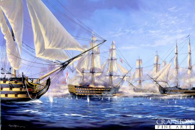 Breaking the Line at the Battle of Trafalgar  by Graeme Lothian. (P)
