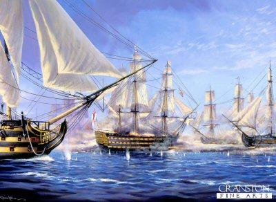 Breaking the Line at the Battle of Trafalgar  by Graeme Lothian