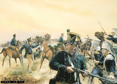 Cape Mounted Rifles against Shakas Zulu Impis c.1827 by Chris Collingwood. (PC)