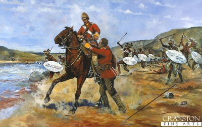 Private Samuel Wassall of the 80th Regiment of Foot  (Staffordshire Volunteers) at Fugitives Drift by Jason Askew.