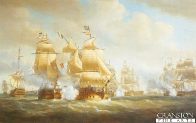Duckworths Action at San Domingo, 6th February 1806 by Nicholas Pocock.