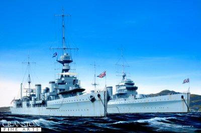 HMS Emerald and HMS Enterprise by Ivan Berryman. (GL)