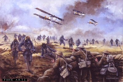 The Kaisers Battle, Operation Michael, France, 21st March 1918 by David Pentland. (GL)