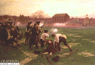 Battle of Lexington by William Barnes Wollen.