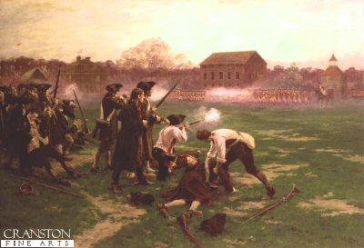 Battle of Lexington by William Barnes Wollen. (Y)