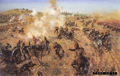 Battle of Hyderabad, 24th March 1843 by Terence Cuneo. (B)