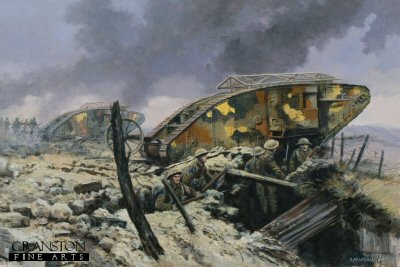Assault on Courcellette, The Somme, 15th September 1916 by David Pentland.