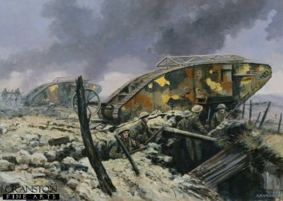 Assault on Courcellette, The Somme, 15th September 1916 by David Pentland. (PC)