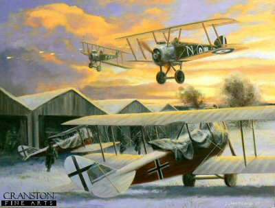 Christmas Greetings from the RFC, North Italy, 25th December 1917 by David Pentland. (GS)