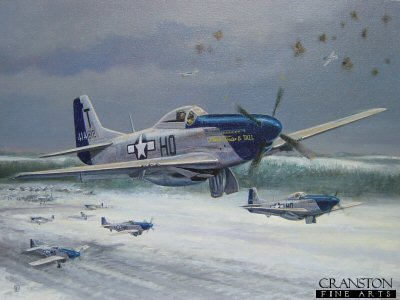Dogfight over Asch, Belgium, 09.20 a.m., New Years Day, 1st January 1945 by David Pentland. (P)