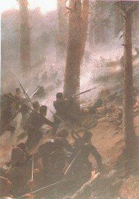 5th Gurkha Rifles at the Battle of Peiwar Kotal 1878 by Vereker Hamilton.
