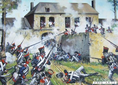 French Attack on Hougoumont Farm at the Battle of Waterloo by Jason Askew. (PC)